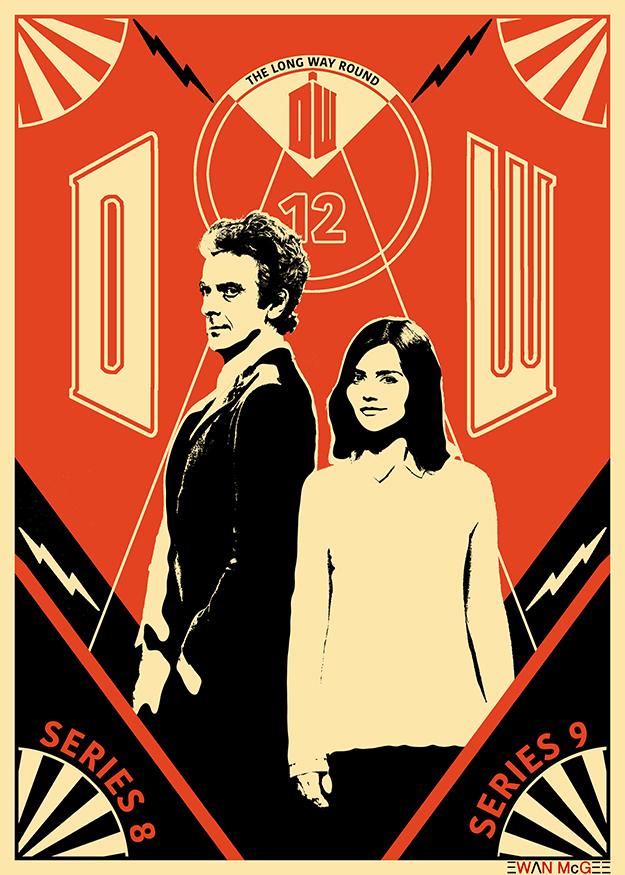 Doctor Who poster LONG WAY ROUND by Ewan McGee