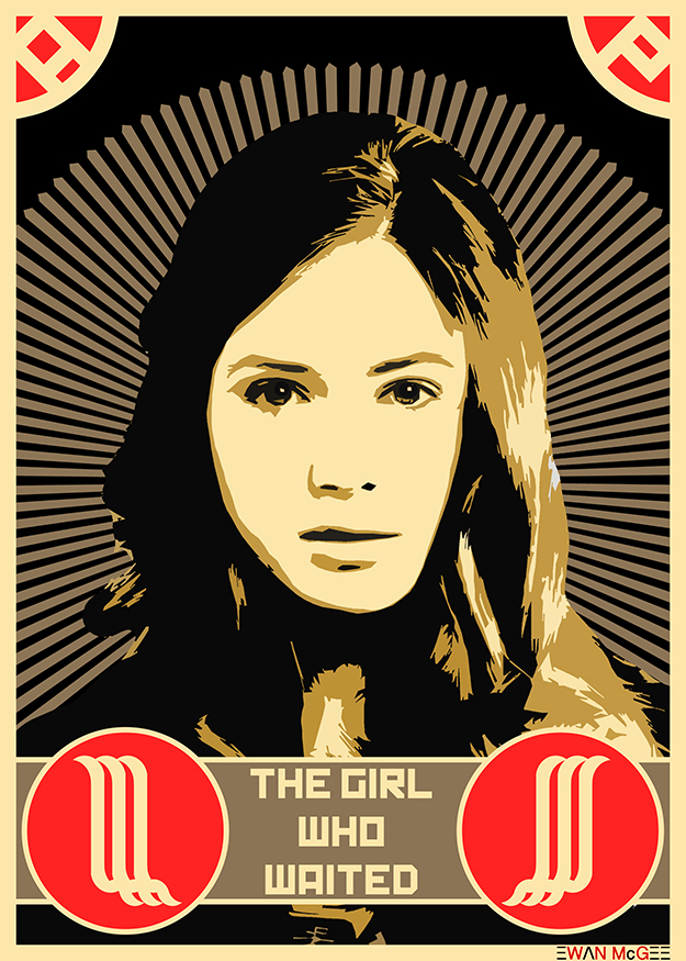 Doctor Who poster THE GIRL WHO WAITED by Ewan McGee